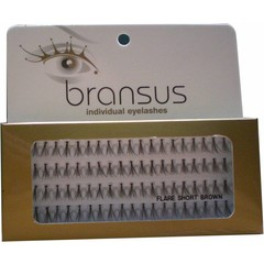 BRANSUS Eyelashes seperate Short Brown