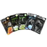 Premium Zwart Masker gemaakt van bamboe-houtskoolvlies, ontgiftend effect, antibacterieel materiaal