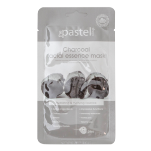 The Pastel Shop Maschera all'essenza facciale al Charcoal, 25 ml di volume attivo
