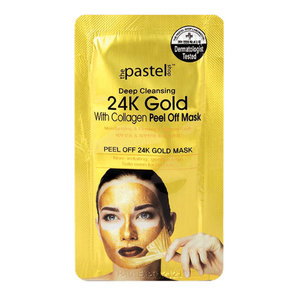 The Pastel Shop 24 Carat Gold, with Collagen, Peel-Off Mask, 10ml active liquid