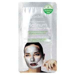 The Pastel Shop Platino, con collagene, Peel-Off maschera, 10 ml di liquido attivo
