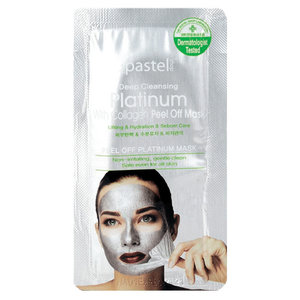 The Pastel Shop Platinum, with Collagen, Peel-Off Mask, 10ml active liquid