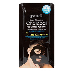 The Pastel Shop Deep Cleansing Charcoal Black, Peel-Off Mask, for Men
