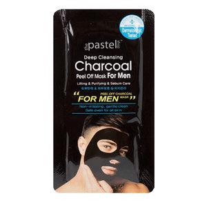 The Pastel Shop Carbone detergente nero intenso, maschera staccabile, 10 ml di liquido attivo,Uomo