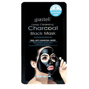 The Pastel Shop Carbone detergente nero intenso, maschera staccabile, 10 ml di liquido attivo