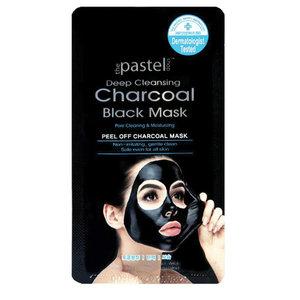 The Pastel Shop Deep Cleansing Charcoal Black, Peel-Off-Maske,  MÄNNER, 10 ml aktive Flüssigkeit