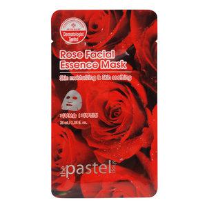 The Pastel Shop Maschera all'essenza facciale al rosa, 25 ml di volume attivo