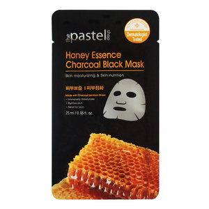 The Pastel Shop Honey Essence Charcoal Black Mask, 25ml di liquido attivo