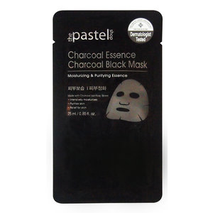 The Pastel Shop Charcoal Essence Charcoal Black Mask, 25 ml aktive Flüssigkeit