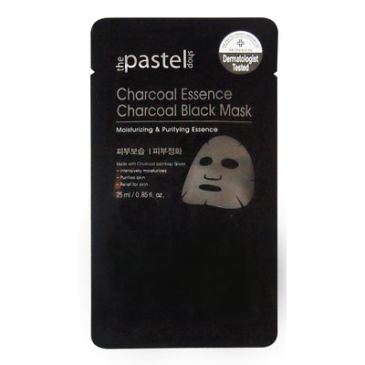 The Pastel Shop Charcoal Essence Charcoal Black Mask