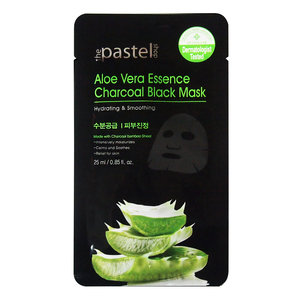 The Pastel Shop Aloe Vera Essence Charcoal Black Mask, 25g aktieve vloeistof