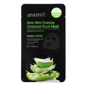 The Pastel Shop Maschera nera antracite a base di essenza di aloe vera, 25 g di liquido attivo