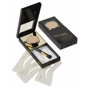 CHRISTIAN FAYE Eyebrow Powder, complete with stencils and brush - Taupe