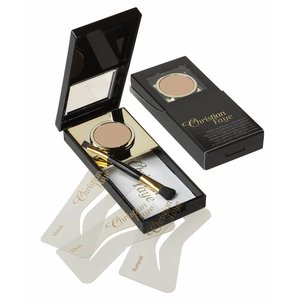 CHRISTIAN FAYE Eyebrow Powder, complete with stencils and brush - Tan