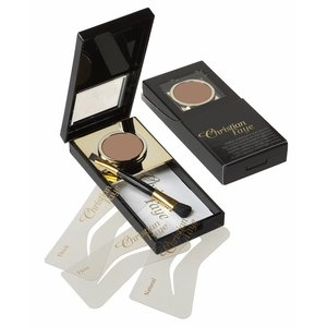 CHRISTIAN FAYE Eyebrow Powder, complete with stencils and brush - Bronze