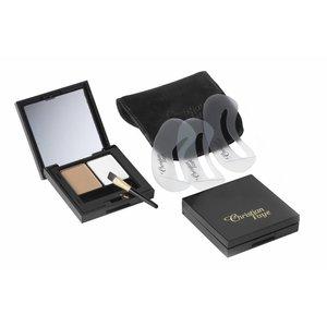 CHRISTIAN FAYE Augenbrauenpuder DUO Highlighter Kit, komplett mit Schablonen und Pinsel - Light