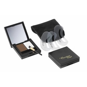 CHRISTIAN FAYE Eyebrow Make Up DUO Highlighter set, complete with stencils and brush - Dark
