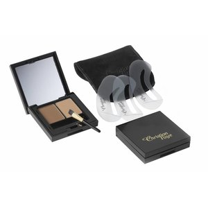 CHRISTIAN FAYE Eyebrow Make Up DUO set, complete with stencils and brush - Deep Blonde
