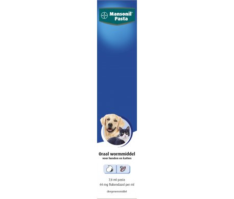 Mansonil Pasta Oraal wormmiddel voor Honden en Katten 1 Tube