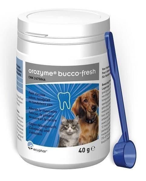 Orozyme Bucco-Fresh PlaqueOff voor hond en kat 40 gram