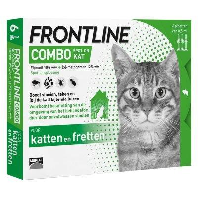 Afbeelding Frontline Combo Spot on Kat 6 pipetten door Petduka