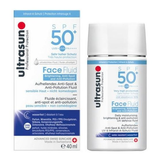 Ultrasun Face Fluid Brightening and Antipollution SPF 50+