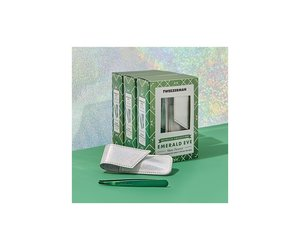 Tweezerman Emerald Eve Slant and Pouch Set