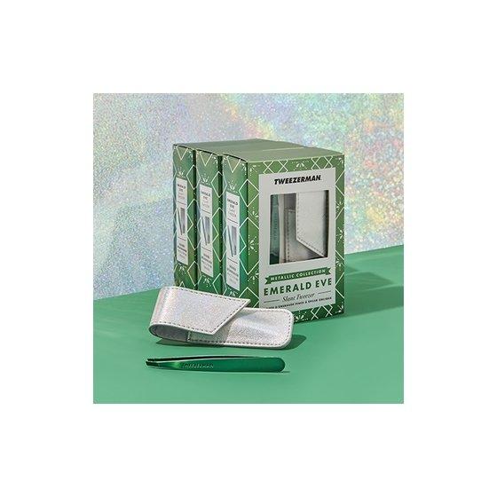 Tweezerman Emerald Eve Slant and Pouch Set