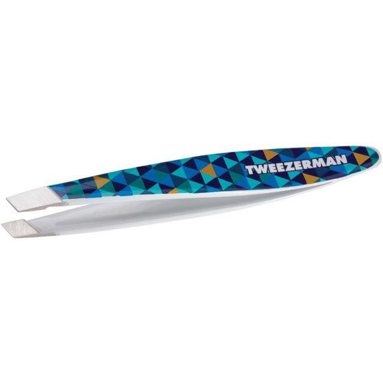 Tweezerman Mini Slant Tweezer Mosaic Blue