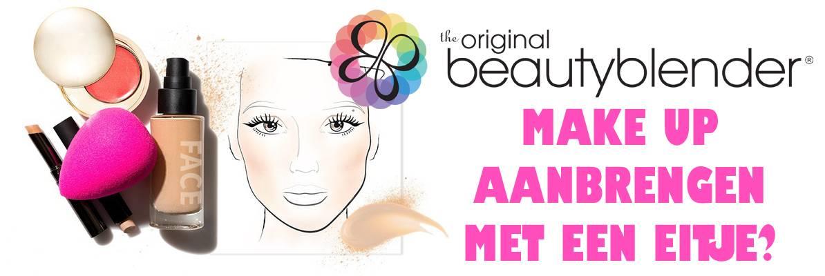 Make-up spons in de vorm van een roze ei?