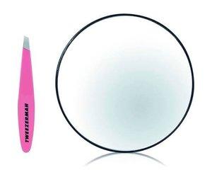 Tweezerman Mini Slant Pink en Spiegel
