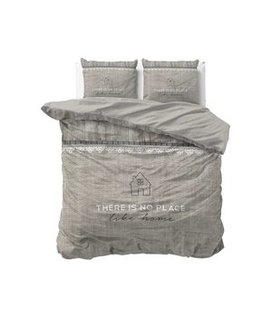 Dreamhouse Bedding dekbedovertrek like home taupe gebreide look