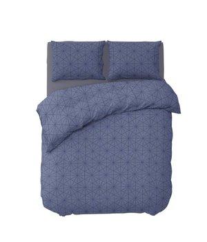 Pierre Cardin luxe bedovertrek ''geometric'' blauw
