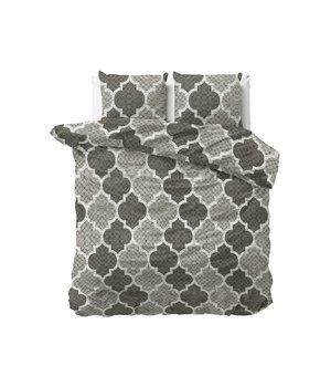 Dreamhouse Bedding flanellen dekbedovertrek gebreide mosaic zwart/antraciet/grijs