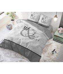 Dreamhouse Bedding dekbedovertrek liefde ''mr en mrs'' grijs