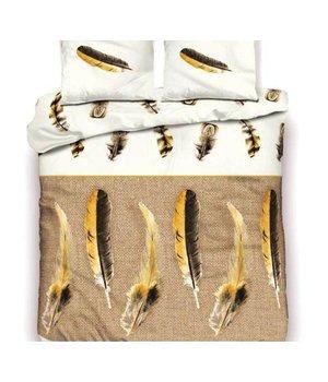 Inspirations goedkope dekbedovertrekken met veren taupe