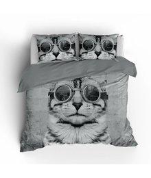 Essara dekbedovertrek kat met bril