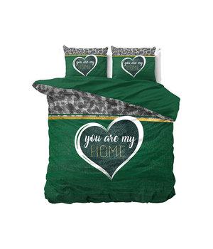 Dreamhouse Bedding katoen bedovertrek ''home'' groen
