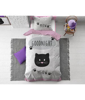 Dreamhouse Bedding Kids dekbedovertrek  ''meow''
