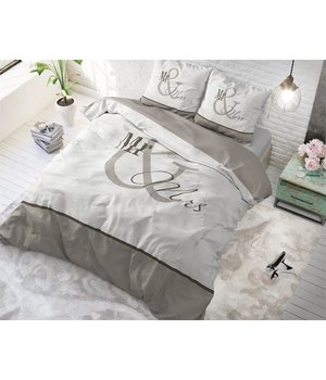 Dreamhouse Bedding dekbedovertrek liefde ''mr en mrs'' creme