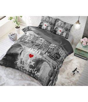 Dreamhouse Bedding dekbedovertrek ''old amsterdam'' grijs