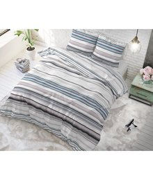 Sleeptime Elegance Gestreept dekbedovertrek ''Benny'' blauw