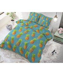 Sleeptime Elegance Katoen dekbedovertrek ''Pineapple'' groen