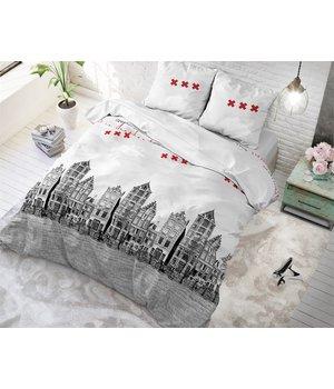 Sleeptime Elegance dekbedovertrek ''amsterdam'' wit