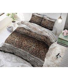 Sleeptime Elegance dekbedovertrek tijgerprint taupe