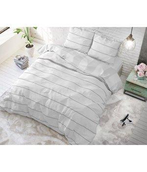 Sleeptime Elegance Goedkope dekbedovertrekken Wit gestreept in Lits jumeaux