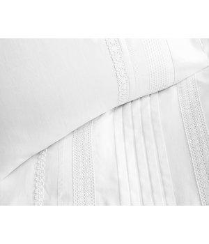 Primaviera Deluxe Satijnen dekbedovertrek ''silvan'' wit met kant dessin
