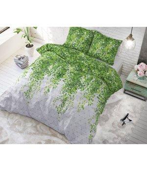 Sleeptime Elegance dekbedovertrek ''botanic jungle'' lits jumeaux  antraciet