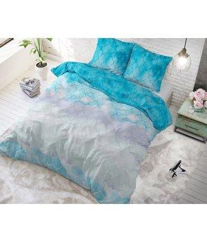 Sleeptime Elegance Dekbedovertrek '' Geometric Ombre'' turquoise