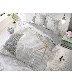 Dreamhouse Bedding katoen dekbedovertrek ''geometric marble''  grijs/goud